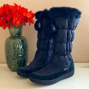 Coach Theona rabbit fur boots